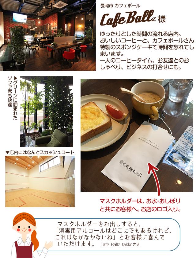 長岡市カフェボール様 Cafe Ballz様 導入事例